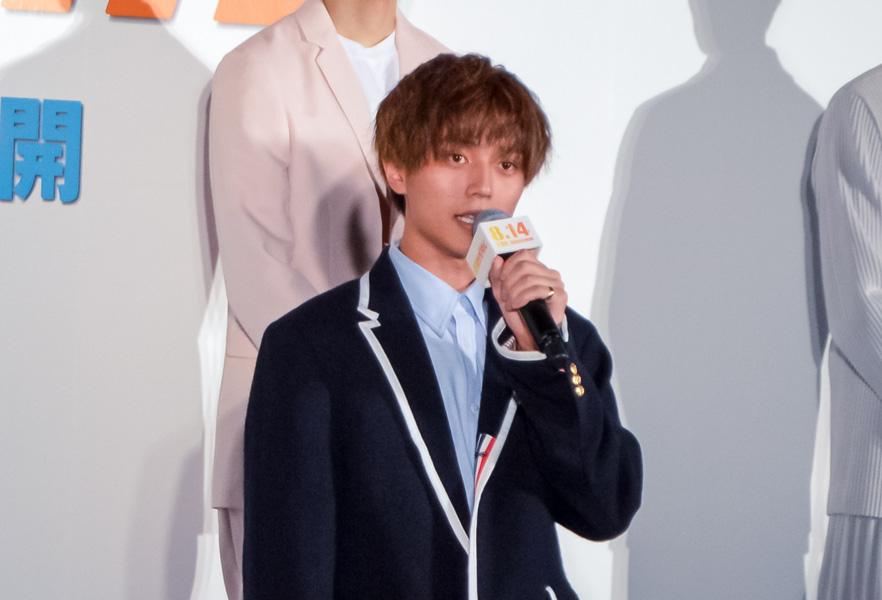 キンプリ永瀬がママチャリで登場 映画「弱虫ペダル」キックオフイベントを取材