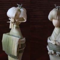 トウモロコシからこんにちは! 皮を使った日本髪のお人形さん…