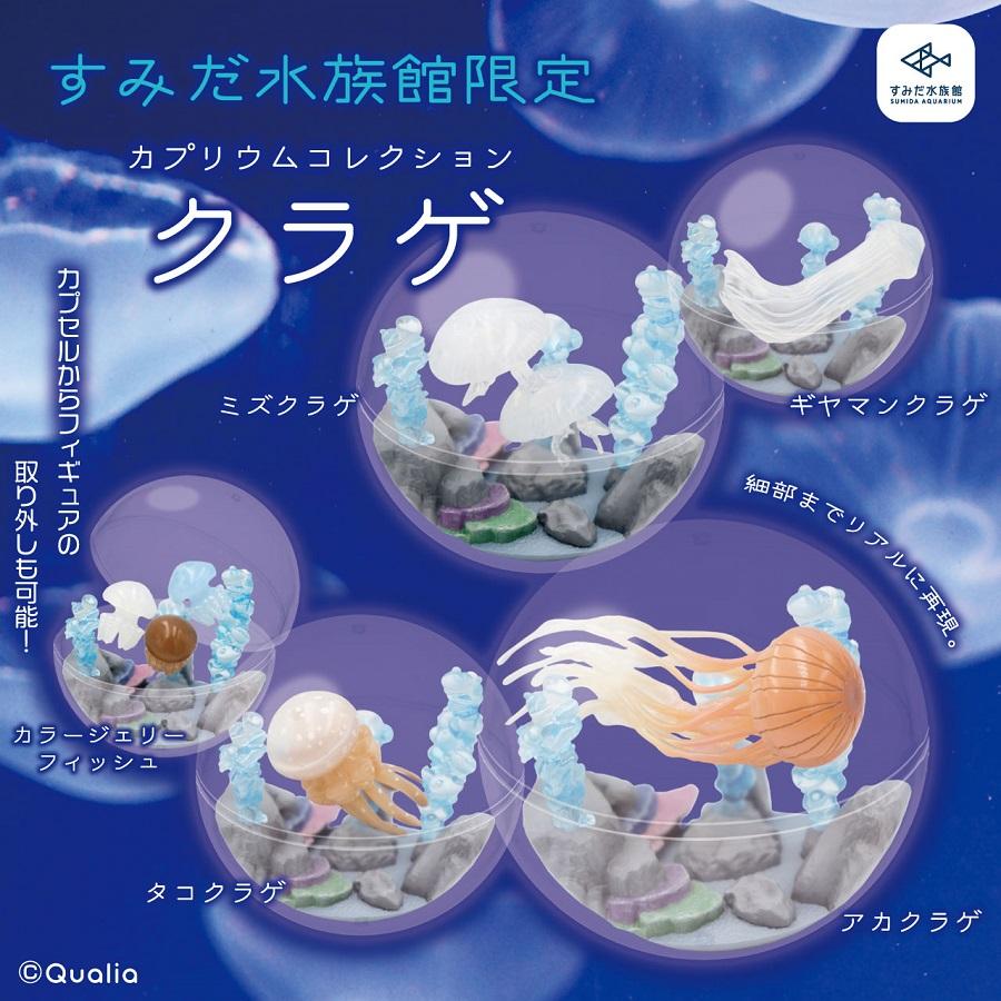 カプセルを水槽に見立てた「カプリウムコレクション クラゲ」 すみだ水族館&京都水族館限定で登場
