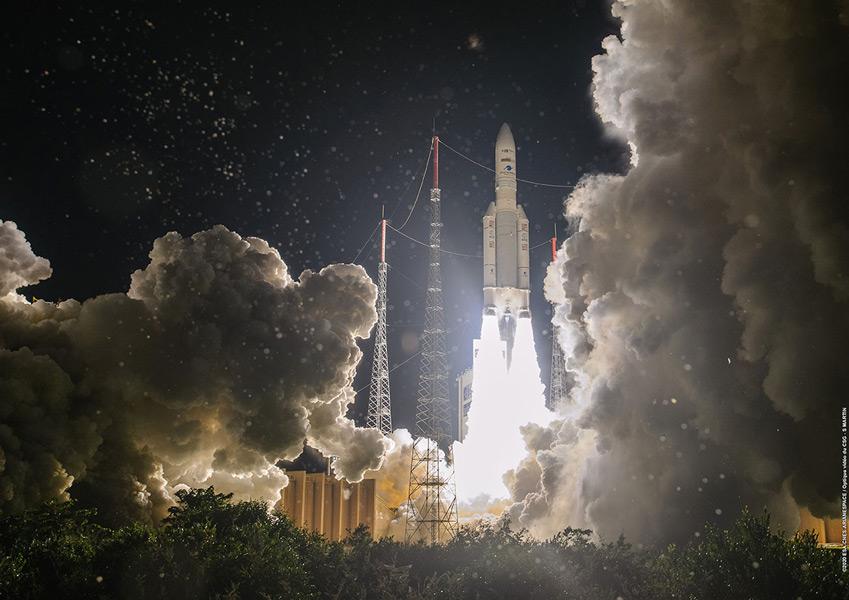日本の4K8K放送衛星BSAT-4b アリアン5ロケットでの打ち上げ成功