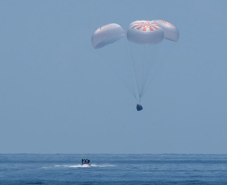 クルードラゴンが無事アメリカに帰還 次からは2回連続で日本人宇宙飛行士が搭乗予定