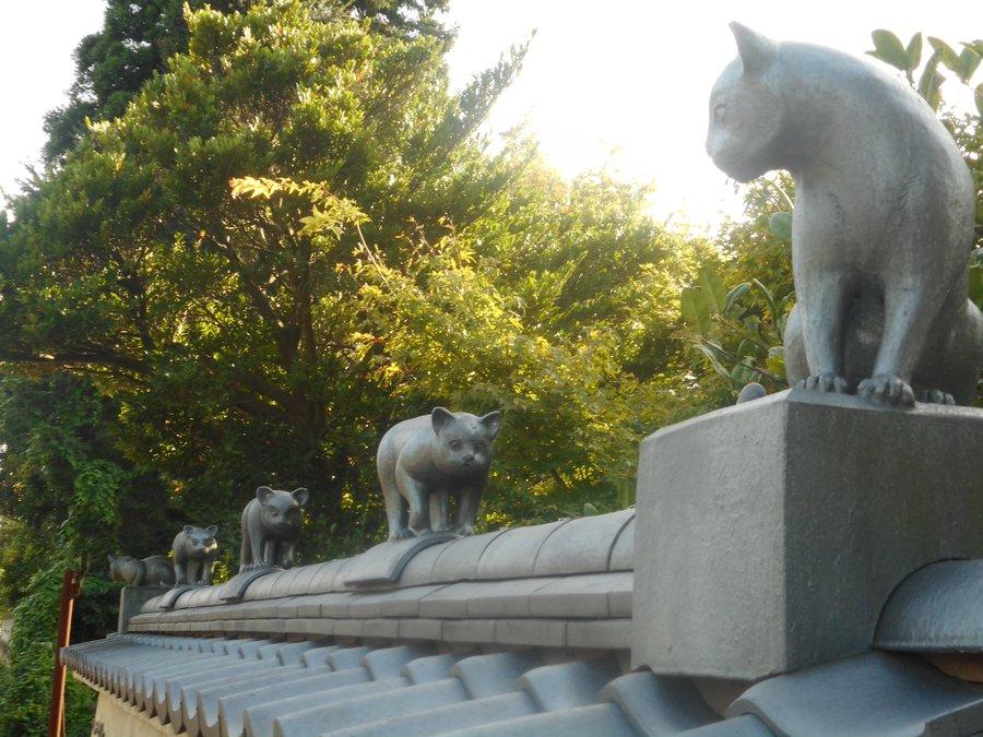 その猫は瓦だニャ 新潟県阿賀野市の名産品「安田瓦」で作った「瓦猫」が本物そっくり