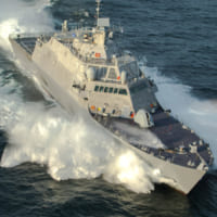 アメリカ最新沿海域戦闘艦ミネアポリス・セントポール 引き渡…