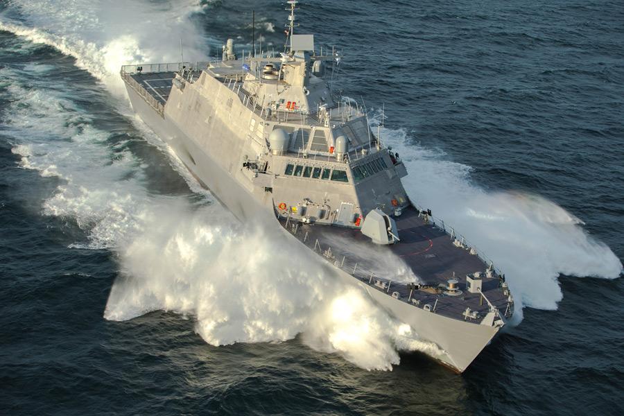 アメリカ最新沿海域戦闘艦ミネアポリス・セントポール 引き渡し前試験を終了