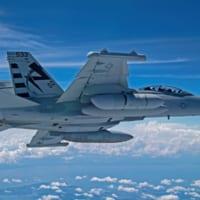 アメリカ海軍の次世代型電子戦ポッド EA-18Gに装着して初…