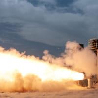 新型ロケット「ヴァルカン」用固体ロケットブースタ 地上燃焼…