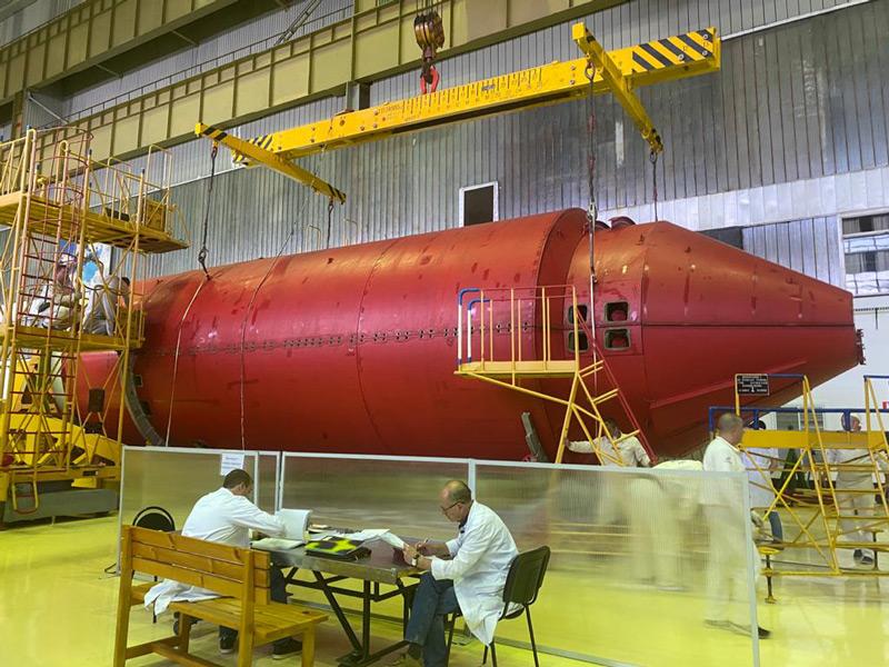 国際宇宙ステーションの新ロシアモジュール「ナウカ」バイコヌール宇宙基地へ