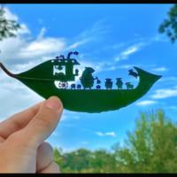 発達障害だって個性 1枚の葉で独自の世界を表現する「葉っぱ…
