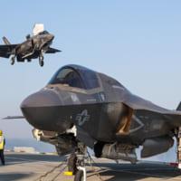 アメリカ海兵隊F-35B イギリスF-35Bと空…