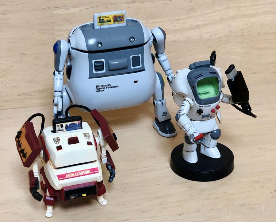 「スーファミ」「ファミコン」「ゲームボーイ」をロボット模型で表現 かつての子ども達がホイホイ集まる事態に