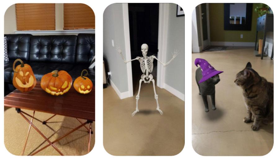 GoogleがハロウィンAR機能を実装 おばけや骸骨が呼び出せるよ!