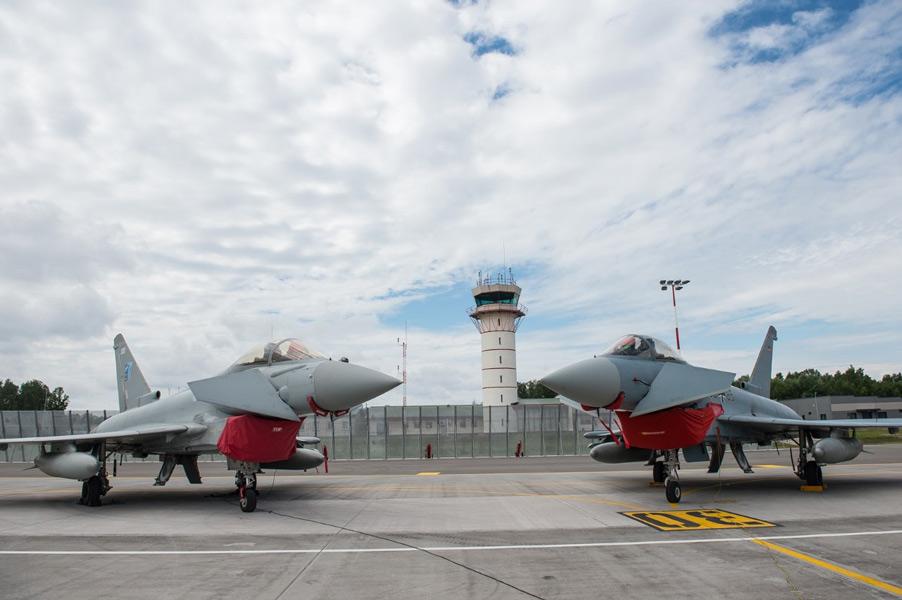 NATOバルト海防空任務のドイツ戦闘機 イギリス戦闘機とエストニアで共同訓練
