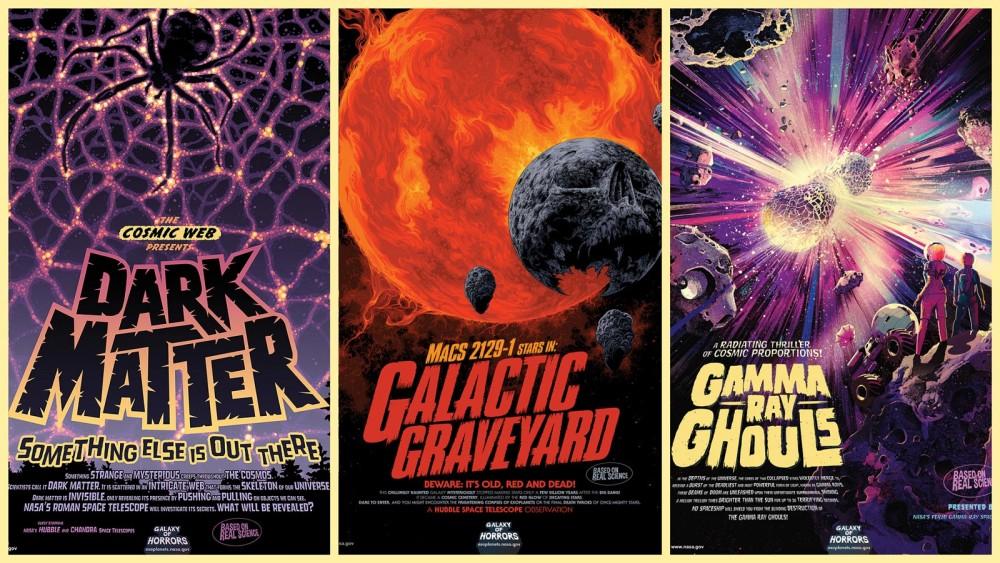 恒例のNASAハロウィン企画「怪奇の銀河ポスター」2020年はミステリアスな天体現象がテーマ