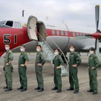 国内最後の現役オリジナルYS-11 航空自衛隊入間基地からフ…
