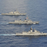 護衛艦きりさめ 南シナ海で日米豪3か国共同訓練