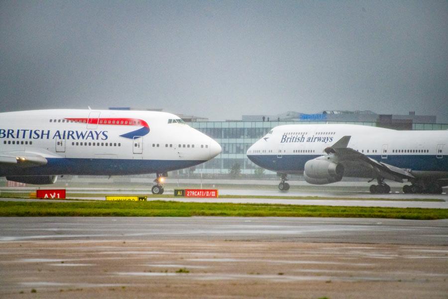 ブリティッシュ・エアウェイズB747 最後の2機がお別れフライト