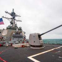 アメリカ駆逐艦バリー 台湾海峡を通過し南シナ海哨…