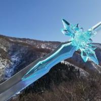 まさにソードアート 冬の敦賀に舞い降りた「青薔薇の剣」