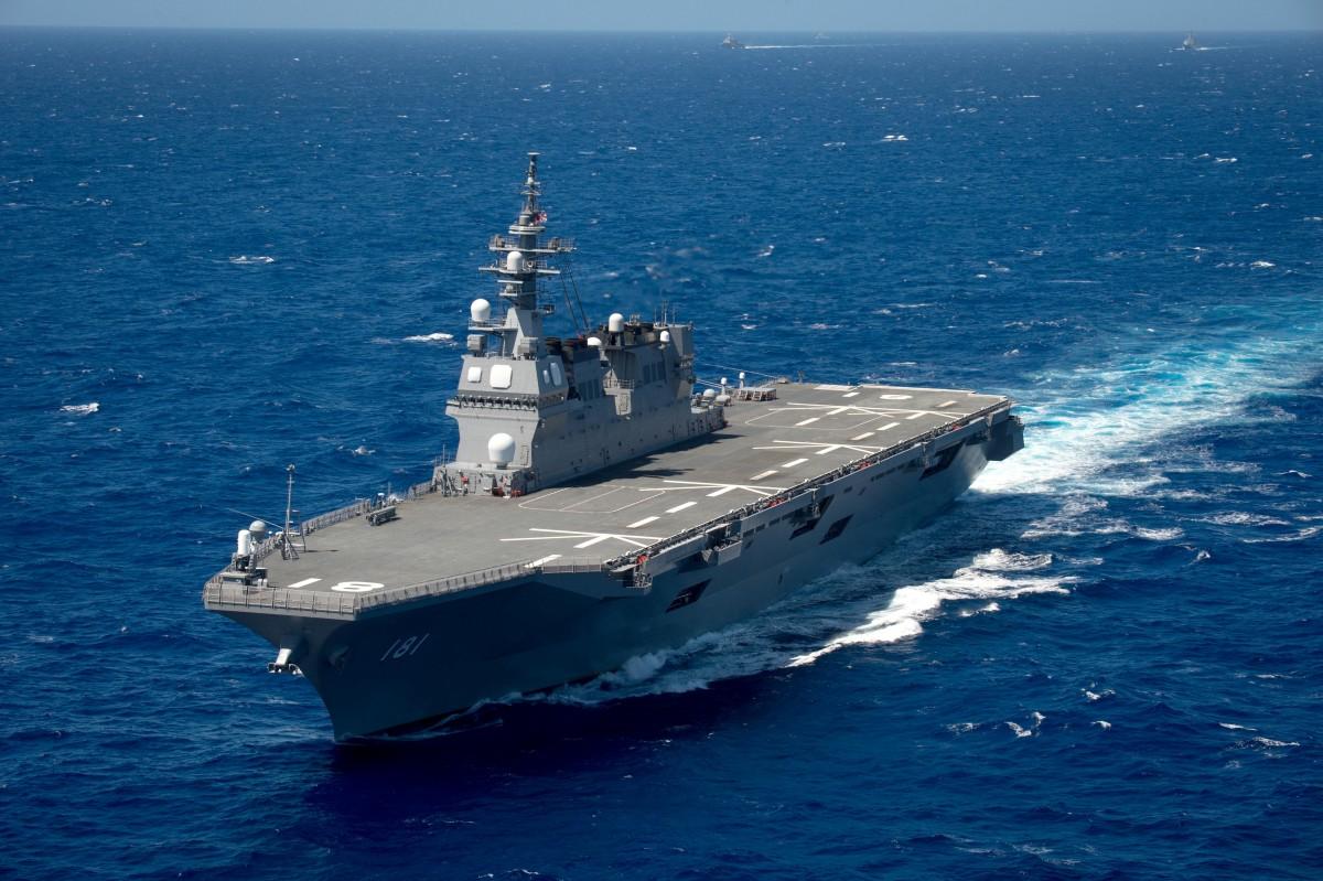海上自衛隊護衛艦ひゅうが 初めてフランス潜水艦を相手に日米仏共同訓練