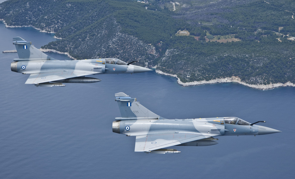 ギリシャ空軍のミラージュ2000-5(Image:ギリシャ空軍)