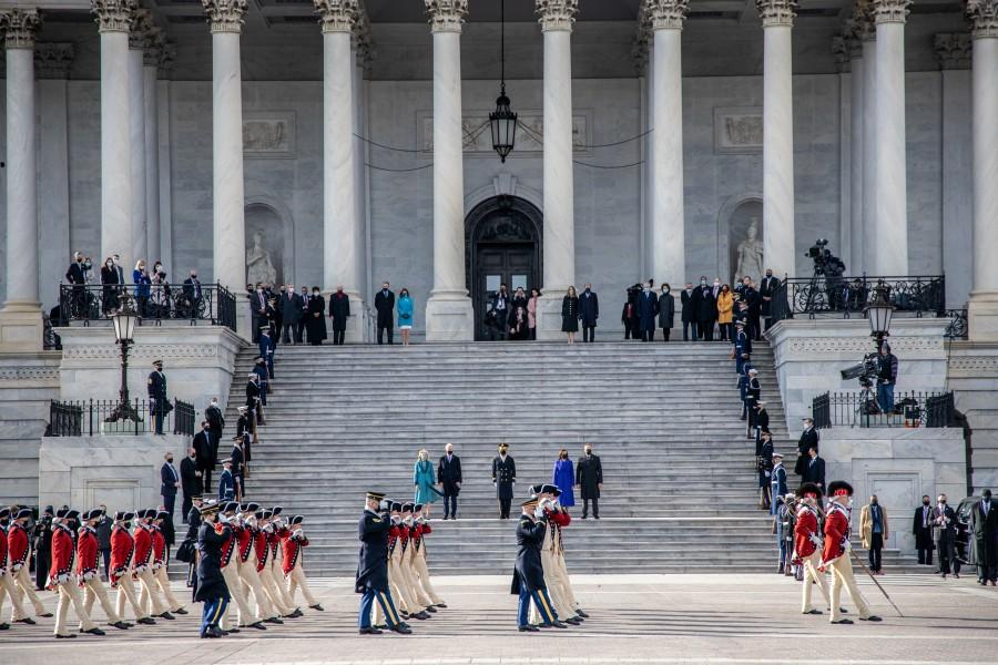 バイデン大統領就任式でのパレード(Image:JTF-NCR)