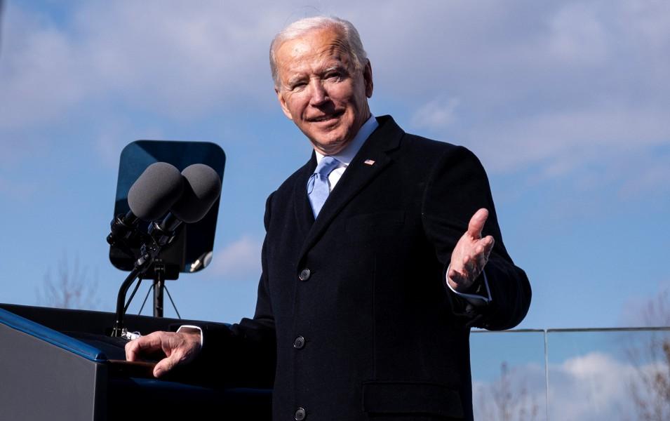 就任式でのバイデン大統領(Image:JTF-NCR)