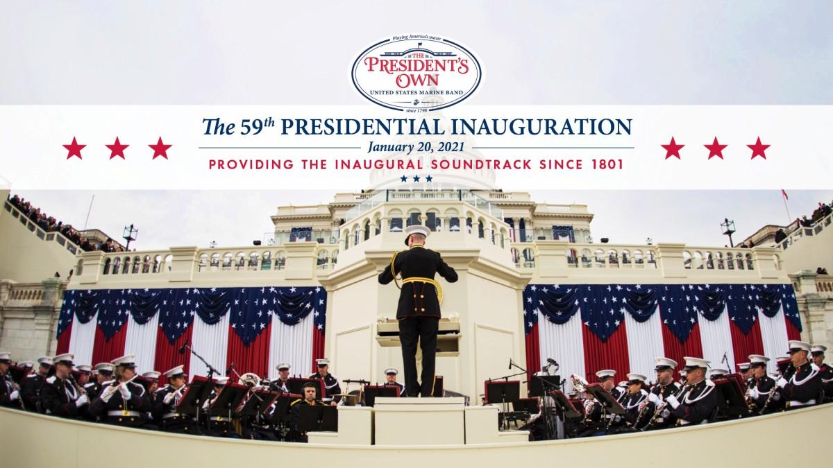 大統領就任式での演奏は海兵隊音楽隊が担当するのが伝統(Image:USMC)