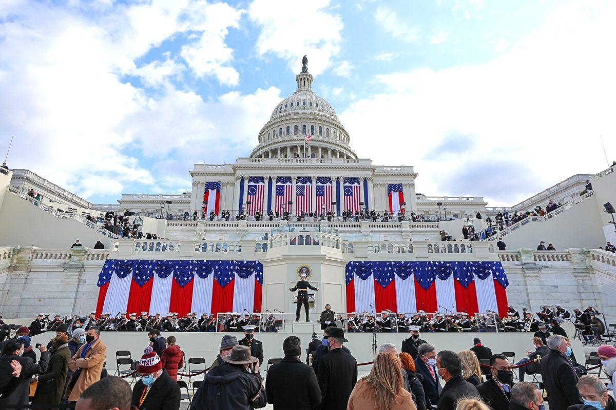 大統領就任式で演奏する海兵隊音楽隊(Image:USMC)