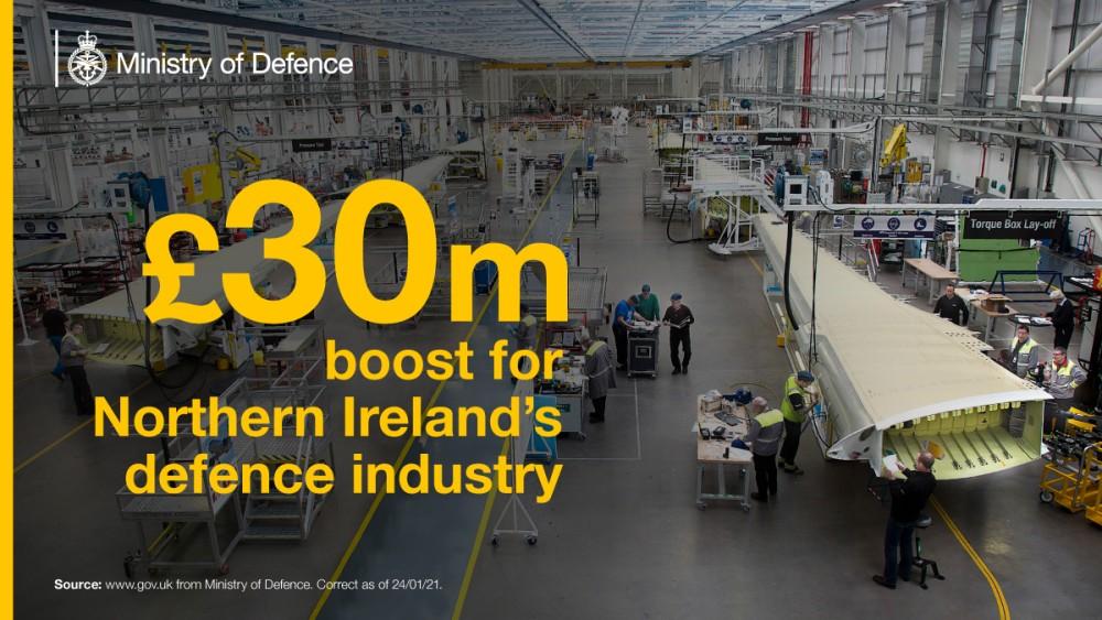 北アイルランドへの投資額(Image:MoD Crown Copyright)