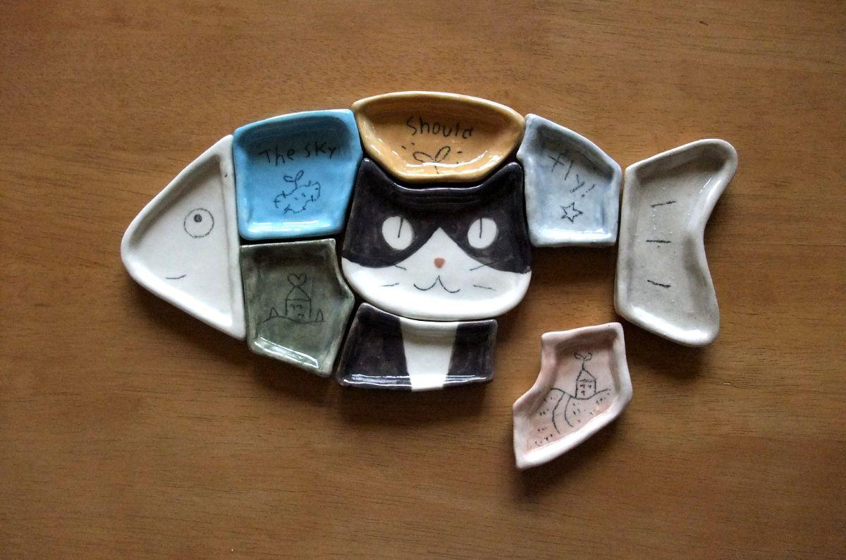 こんなん作ってます 猫クリエイターが作った「パズル猫小皿」に反響