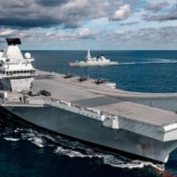 アメリカF-35Bと駆逐艦 2021年もイギリスと統合空母打…