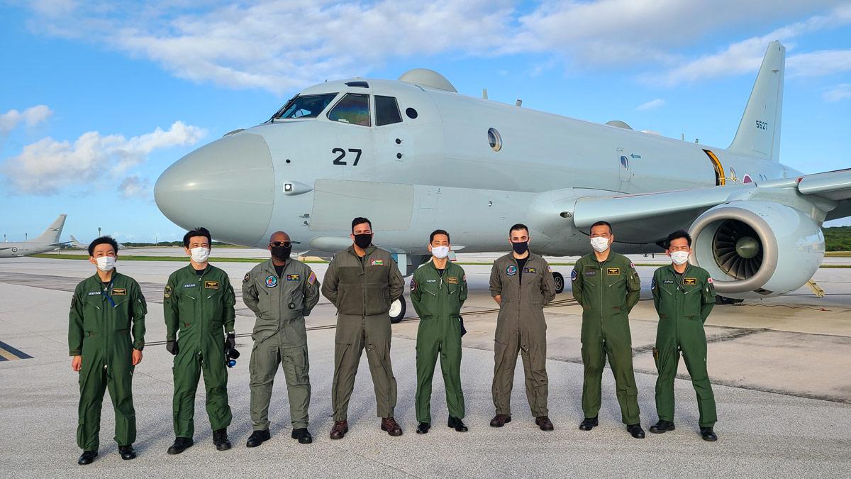 海上自衛隊P-1哨戒機 グアムでの多国間共同訓練「シードラゴン2021」を終了