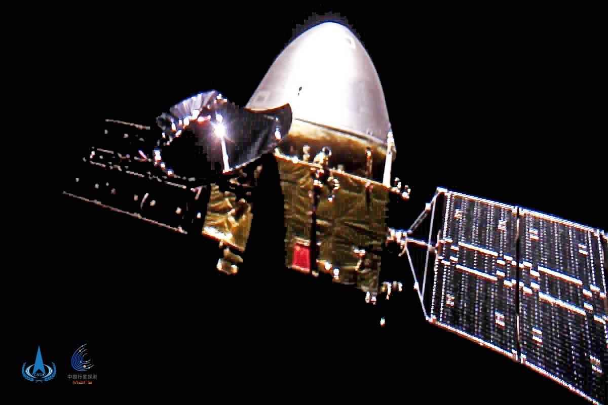 中国初の火星探査機「天問1号」火星に接近