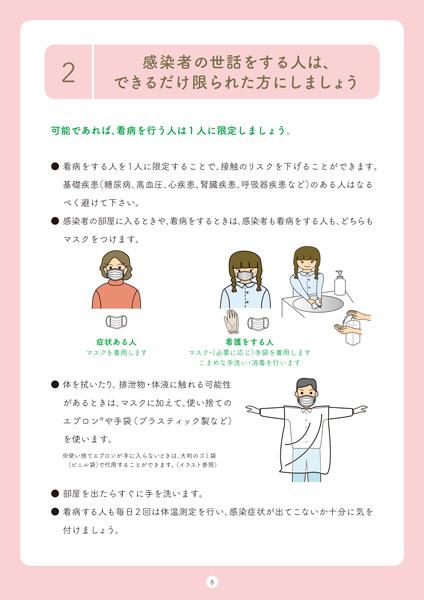 東京都の新型コロナウイルス「自宅療養者向けハンドブック」内容の一部