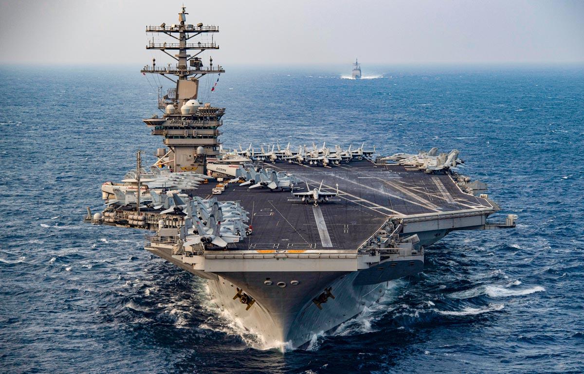 アメリカ空母ニミッツの中東撤収を中止 イランの軍事活動活発化が理由