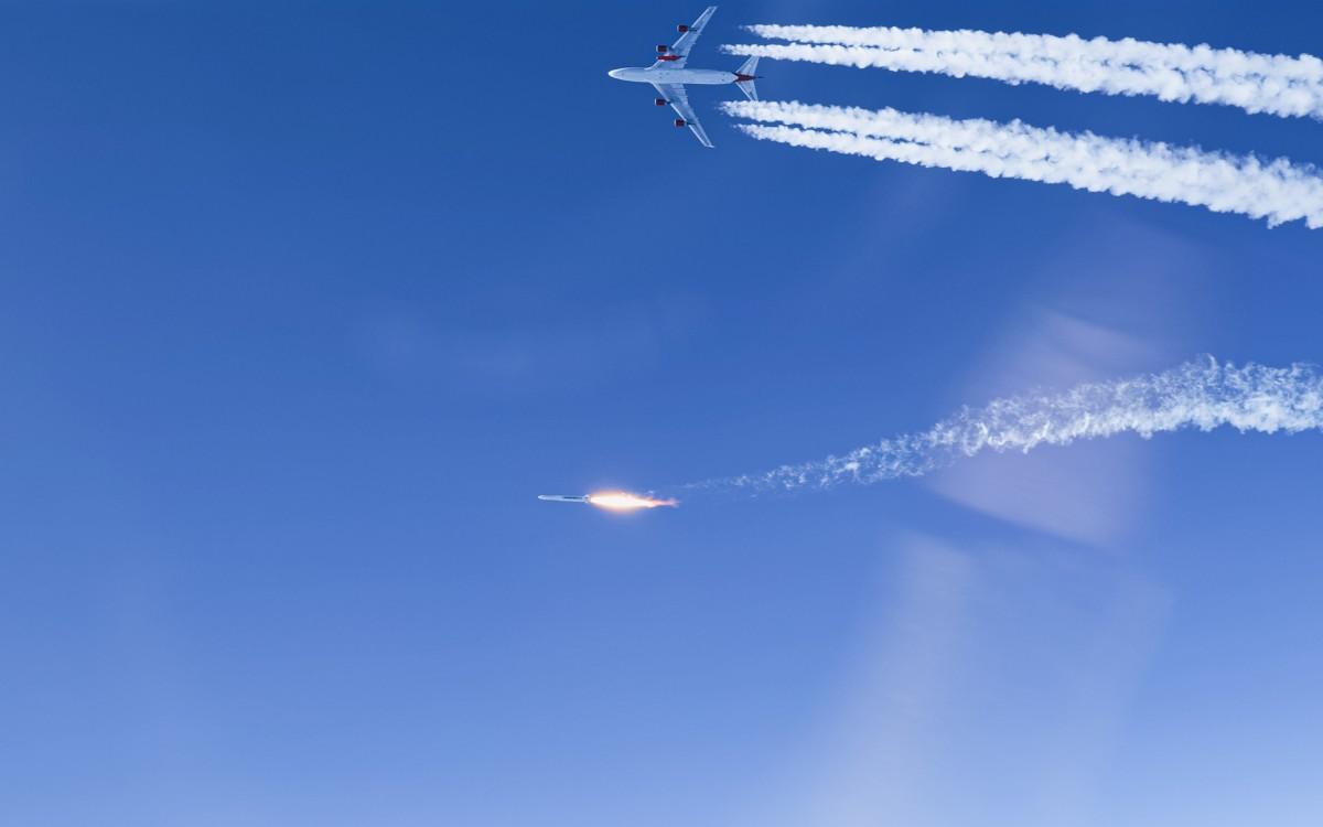 発射母機から切り離され上昇するロケット(Image:Virgin Orbit)