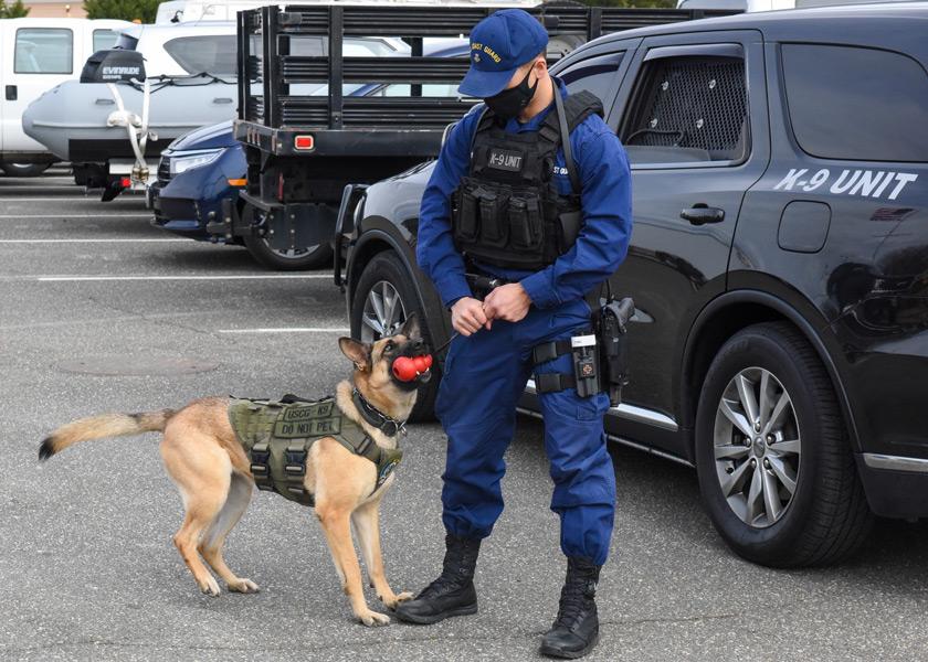 アメリカ沿岸警備隊の警備犬(Image:USCG)