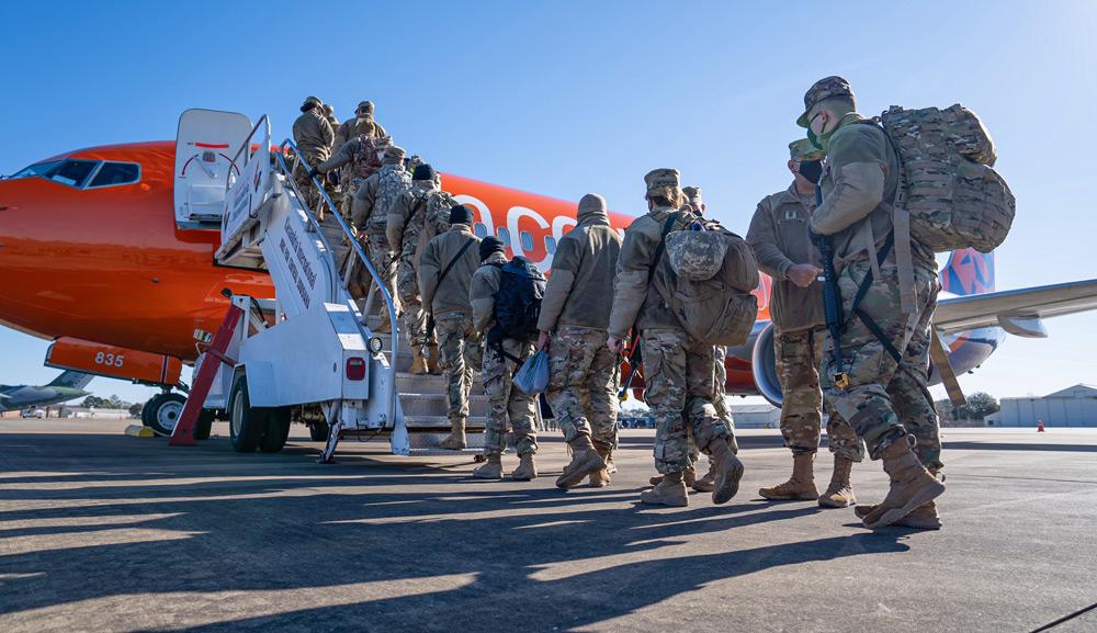 ワシントンD.C.に向かうグアム州兵(Image:U.S.National Guard)