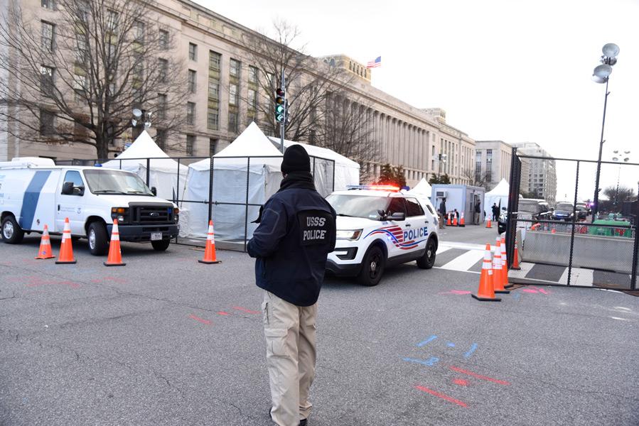 シークレットサービスによる検問所(Image:U.S.Secret Service)