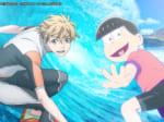 TVアニメ「おそ松さん」と、TVアニメ「WAVE!! ~サーフィンやっぺ!!~」のコラボCM