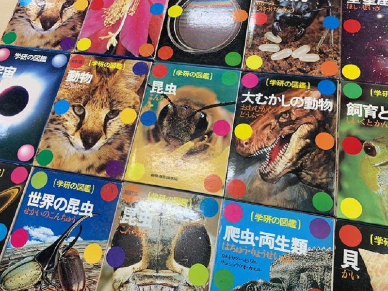 6つの水玉の表紙でおなじみ。70~80年代に発刊された学研の図鑑