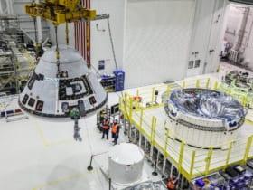 打ち上げ前準備が進むスターライナー(Image:Boeing)