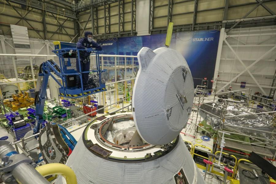 CST-100スターライナーのドッキングポート(Image:Boeing)