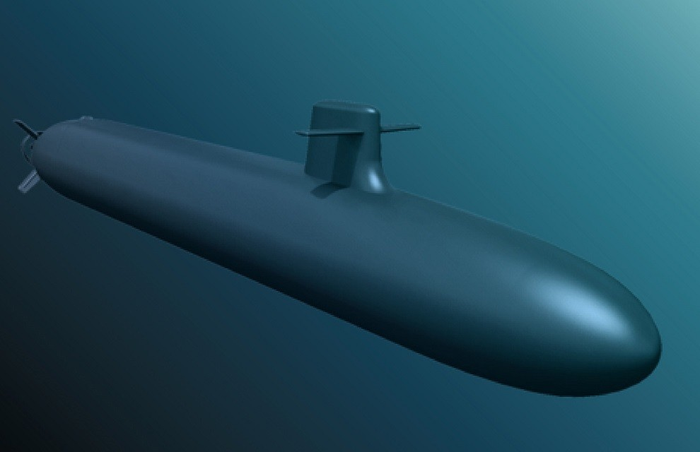 フランスの次世代弾道ミサイル原潜(SNLE 3G)想像図(Image:フランス軍事省)