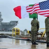 イタリア空母カヴール F-35B運用試験のためアメリカに到着