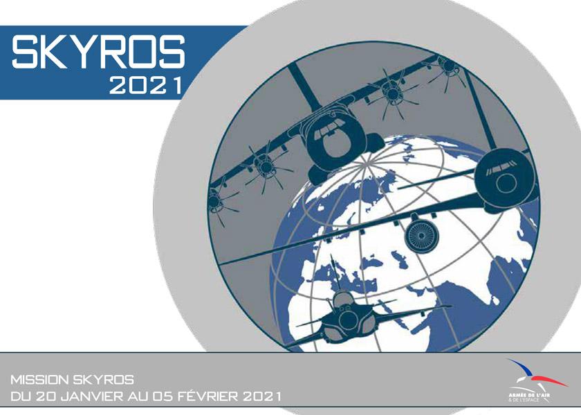 「Skyros」リーフレットの表紙(Image:フランス航空宇宙軍)