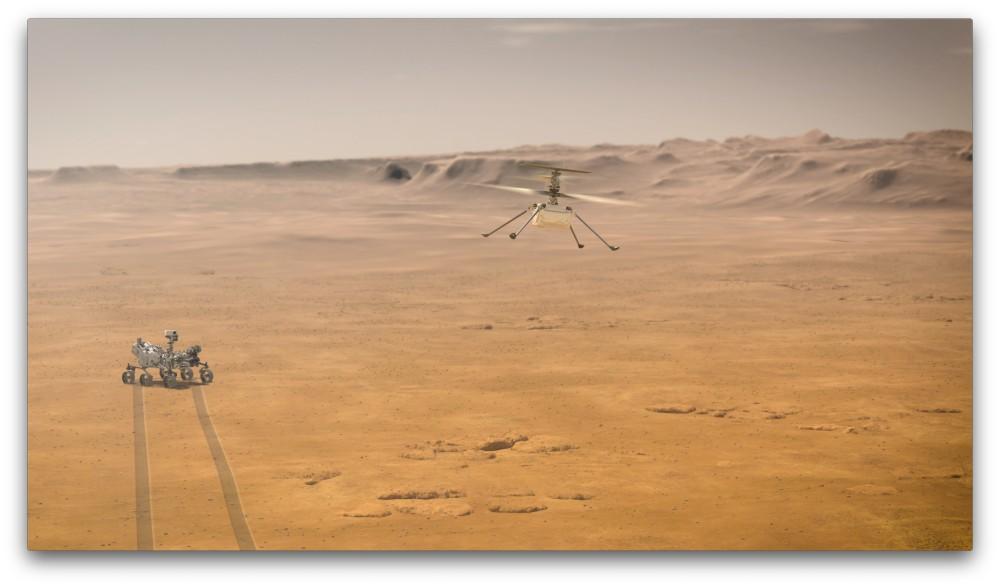 パーセベランスとインジェニュイティ(Image:NASA)