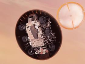 火星表面へ降下するパーセベランス(Image:NASA)