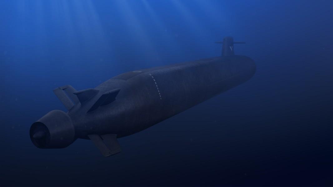 フランスの次世代弾道ミサイル原潜(SNLE 3G)後部からの想像図(Image:ナーバル・グループ)