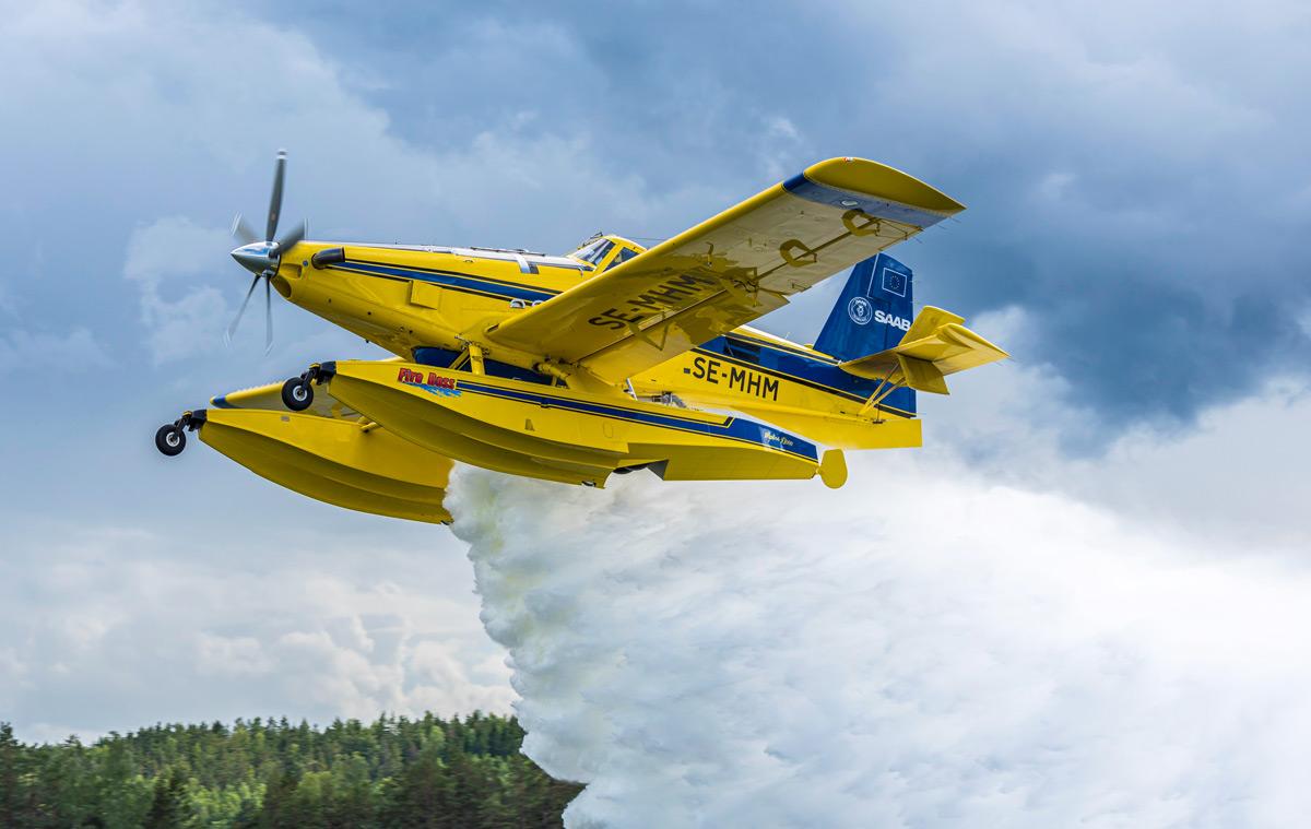 スウェーデン政府 消防機を2機追加発注し北欧の森林火災対応を強化